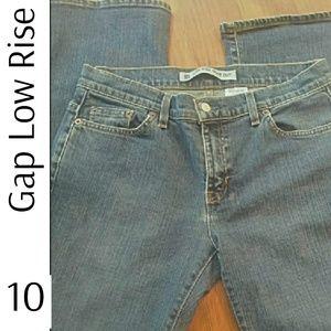 Gap Low Rise Boot Cut Stretch Jeans 10